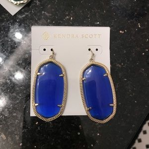 Kendra Scott Danielle Earrings blue gold